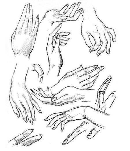 Учимся рисовать руки.