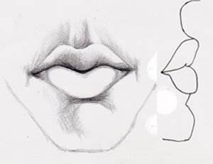 Как реалистично нарисовать рот карандашом