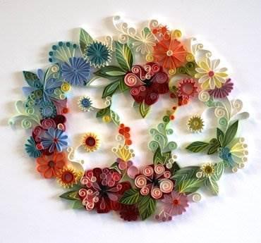 Рукоделие картины из цветов