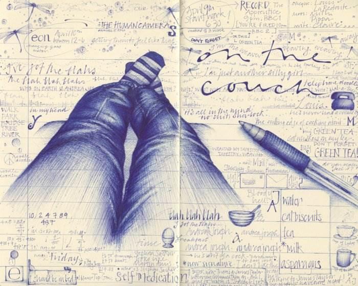 Картинки нарисованные карандашом в тетради 2