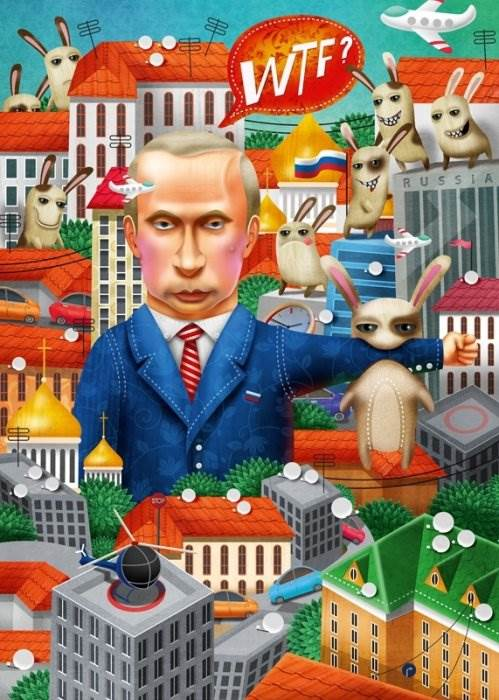 Путин Иллюстрации