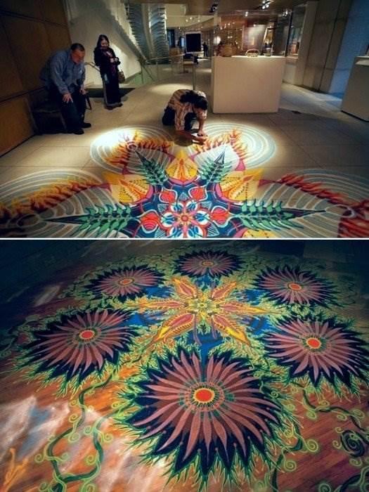 Картины из цветного песка