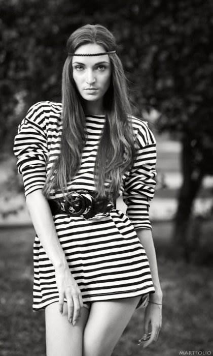 чёрно-белые портреты девушек