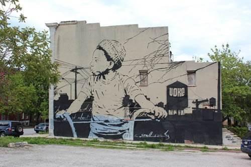 Трафаретное уличное искусство