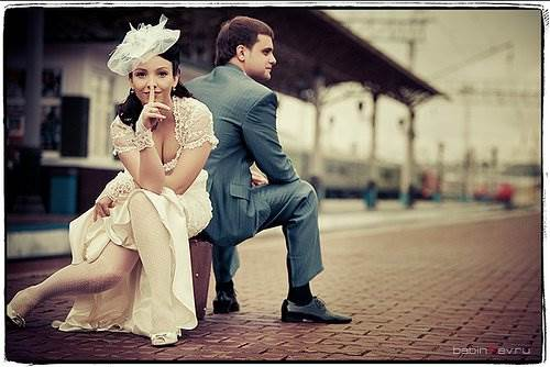 Ретро-фотосессия для свадьбы