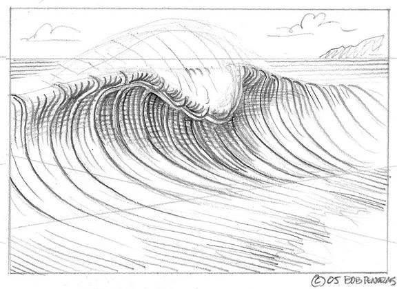Как рисовать волны