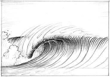 рисовать волны