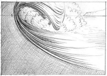 урок по рисованию волн