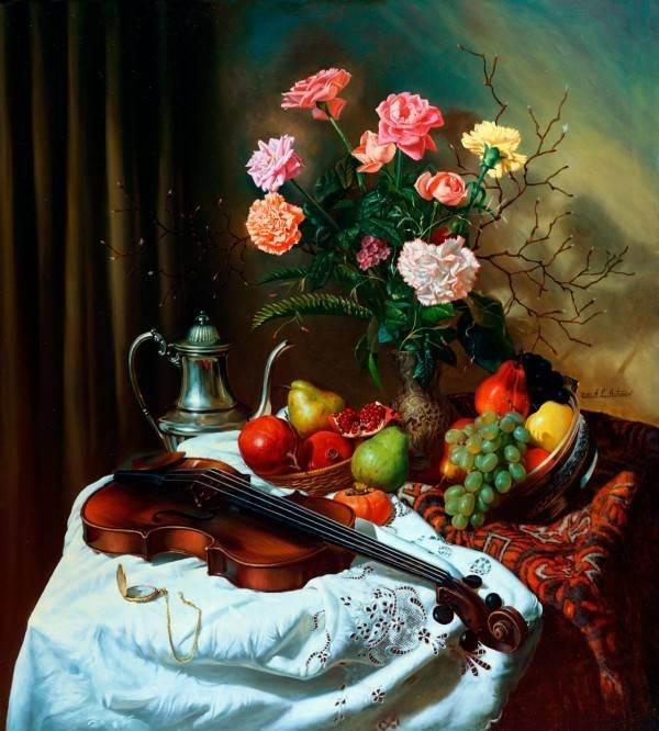 натюрморты и цветы