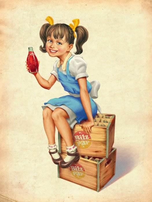 серия плакатов Bilz & Pap RETRO