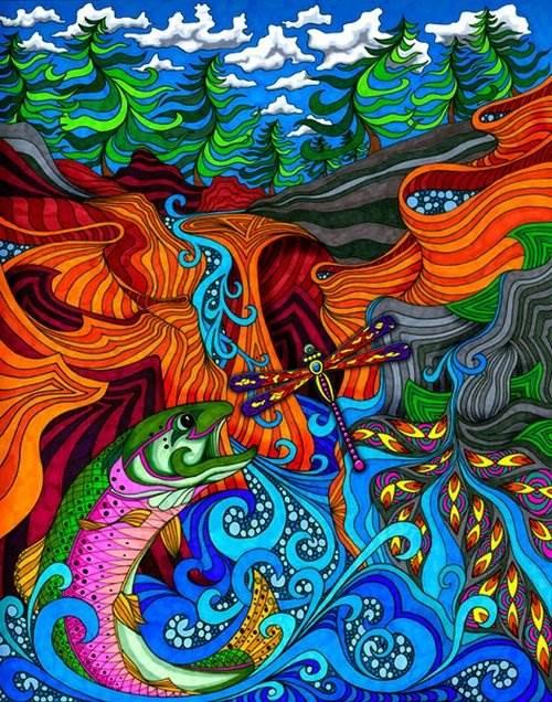 разноцветная психоделика