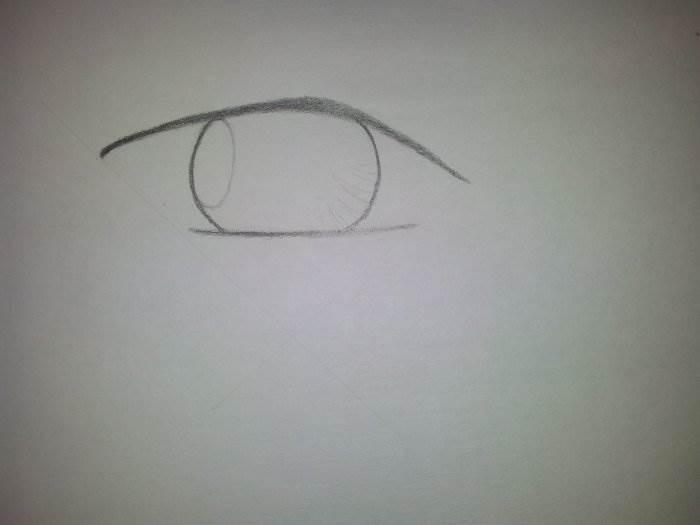 как рисовать аниме глаза парней