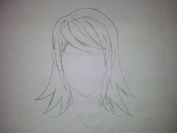 рисовать аниме волосы поэтапно
