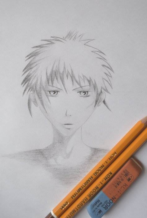 Как рисовать аниме лицо парня