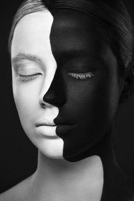 Черно белое  высокого разрешения