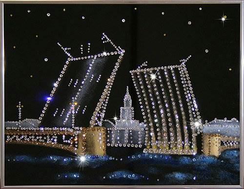 картины из кристаллов сваровски