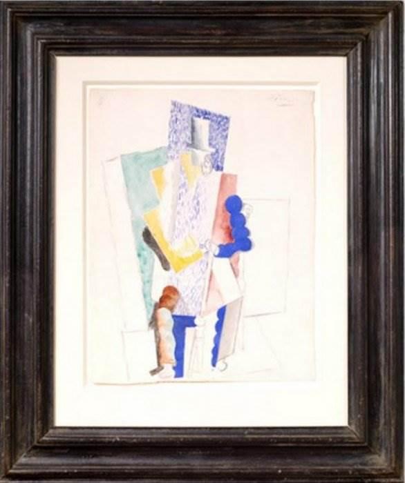 Пикассо Мужчина в цилиндре
