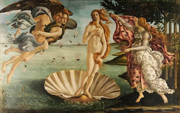 Сандро Боттичелли картина Рождение Венеры