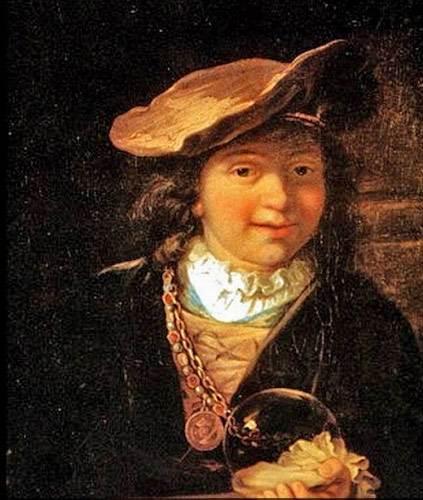 Рембрандт картина Мальчик с мыльным пузырем