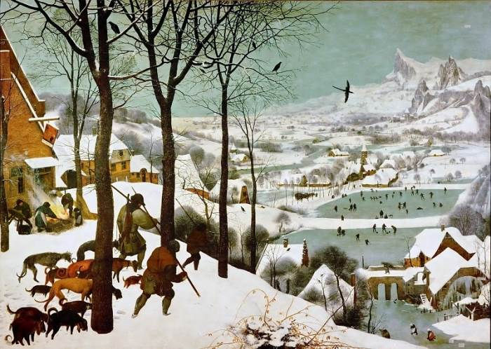 Охотники на снегу Брейгель