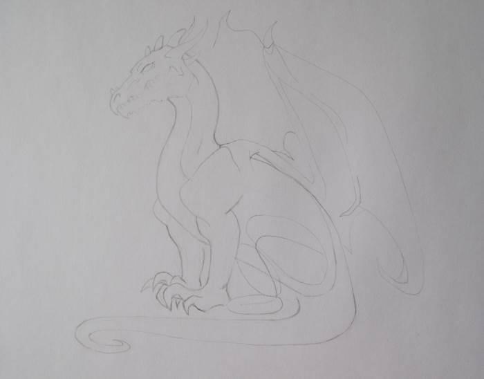 Рисуем дракона поэтапно