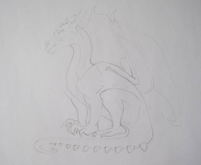 Рисуем дракона карандашом
