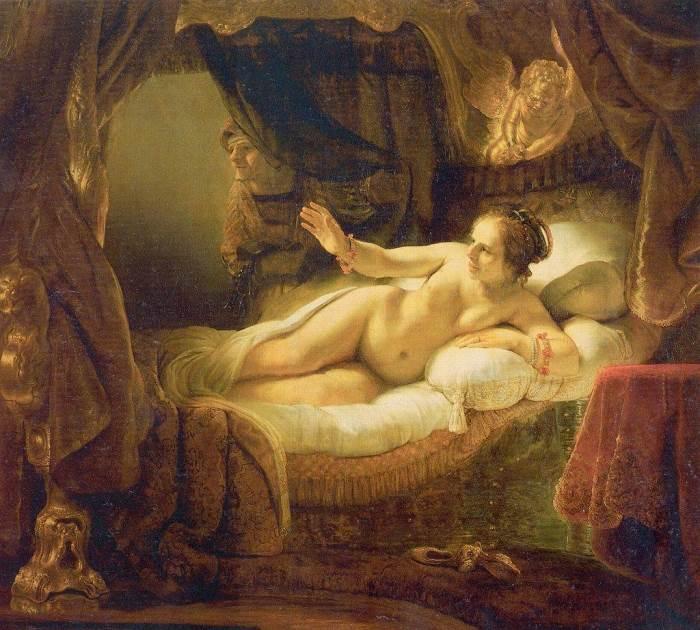 Даная картина Рембрандта
