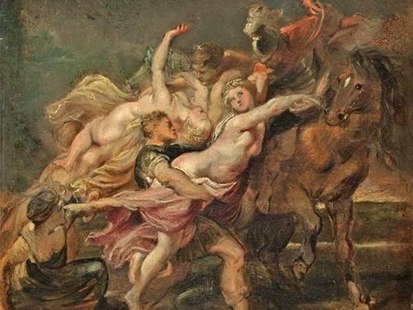 Похищение дочерей Левкиппа картина Рубенса
