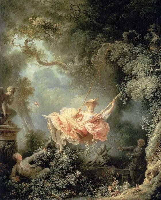 Качели картина Жан-Оноре Фрагонар