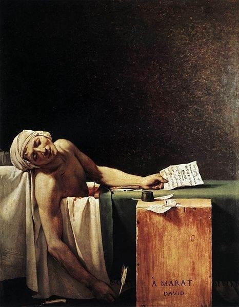 Смерть Марата картина