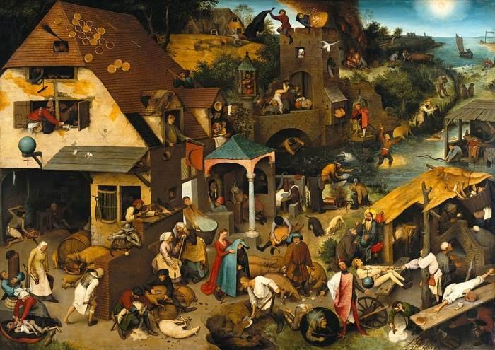 Фламандские пословицы» картина Питера Брейгеля Старшего