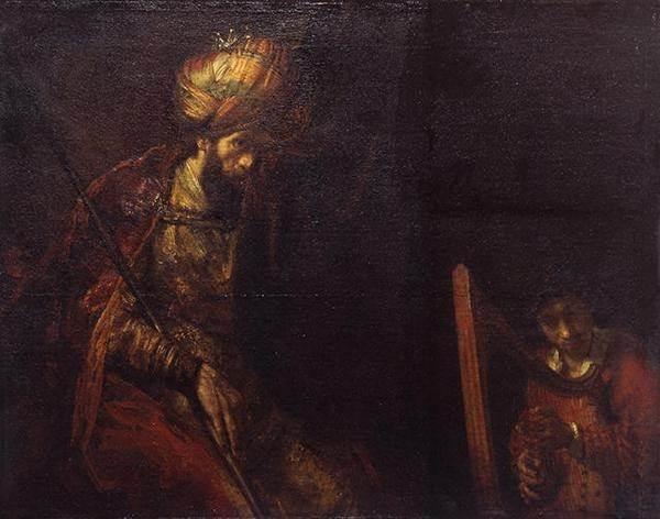 Саул и Давид картина Рембрандта