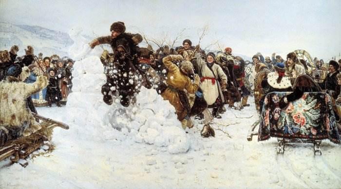 Взятие снежного городка Суриков