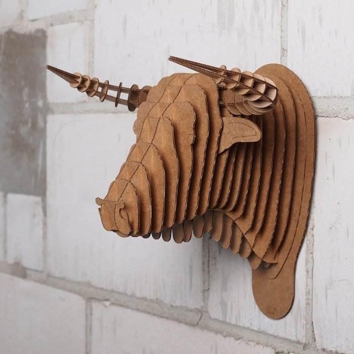 Голова кабана из картона