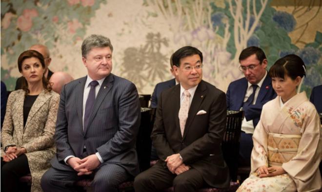 Юрий Луценко заснул на встрече с премьером Японии