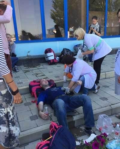 В Анапе казаки избили Навального