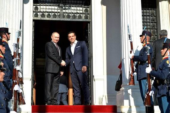 Пресс-конференция Путина и Ципраса в Греции 27 мая 2016 фото