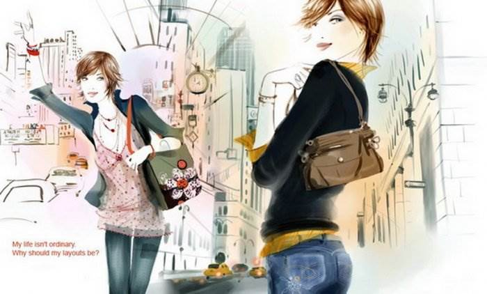 Девушка фэшн иллюстрация