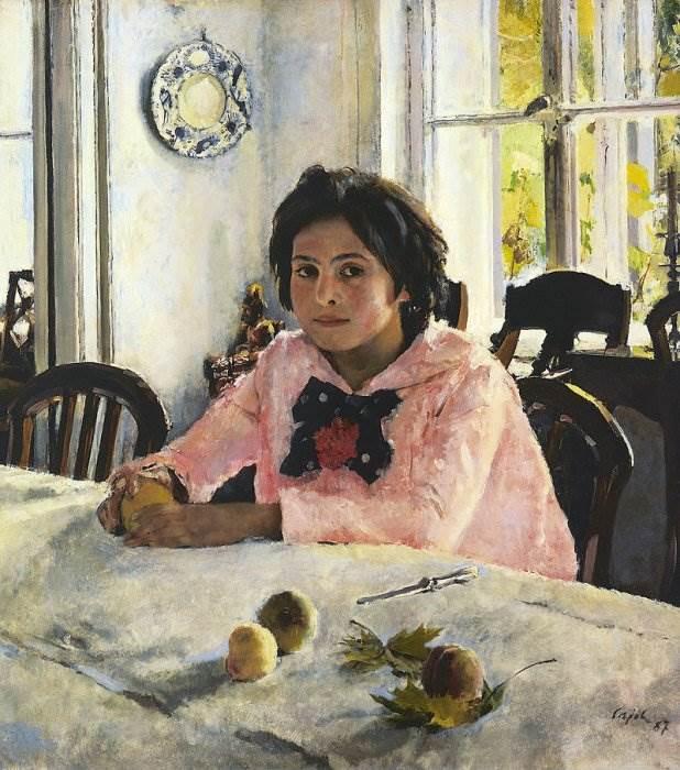 Картина Девочка с персиками Серов