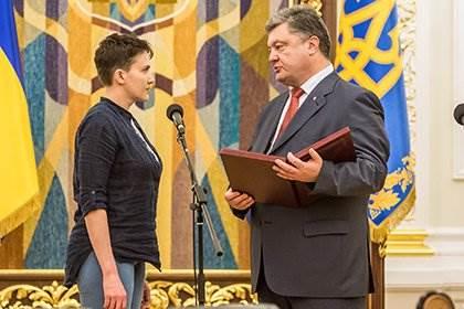 Савченко и Порошенко фото