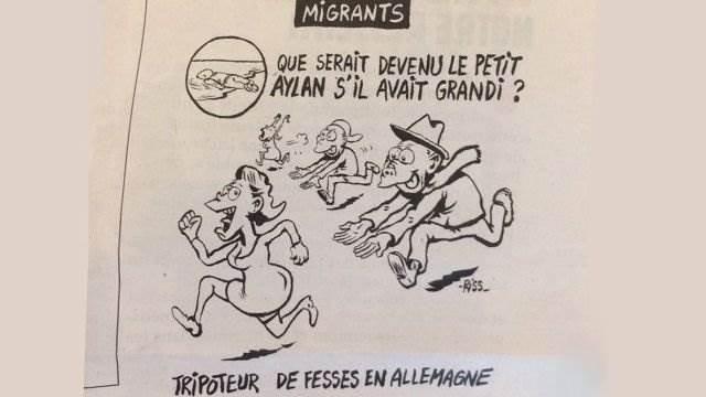 Сharlie Hebdo карикатура о событиях в Кёльне
