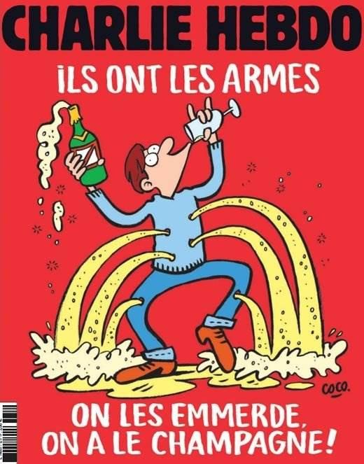 Charlie Hebdo карикатура на теракт в Париже