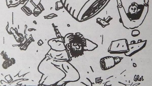 Charlie Hebdo карикатуры на А321