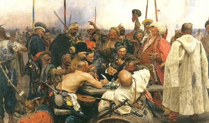 Запорожцы пишут письмо турецкому султану картина Репина