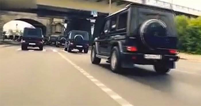 Выпускники Академии ФСБ заезд на гелендвагенах