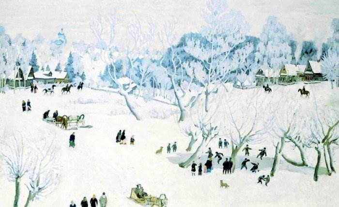 Волшебница-зима в Лигачево. Юон