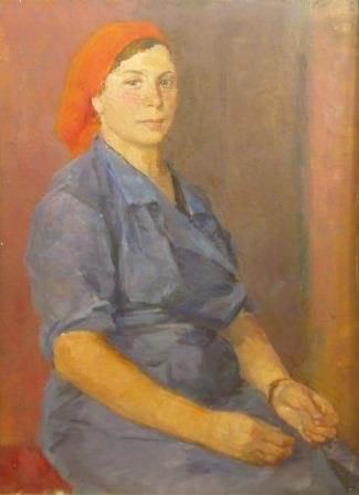 Ф.П. Малаев «Портрет бригадира Кудрявцевой»