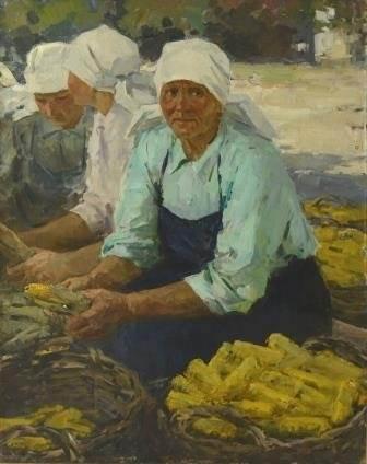 В.В. Пименов «Портрет Героя Социалистического Труда Головиной»