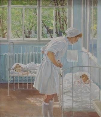 Т.И. Лившиц «Утро. Медсестра Светлана Самохина»