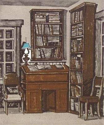 «Рабочий стол В.И. Ленина в доме Зырянова» из серии «Ленинские места на Енисее»